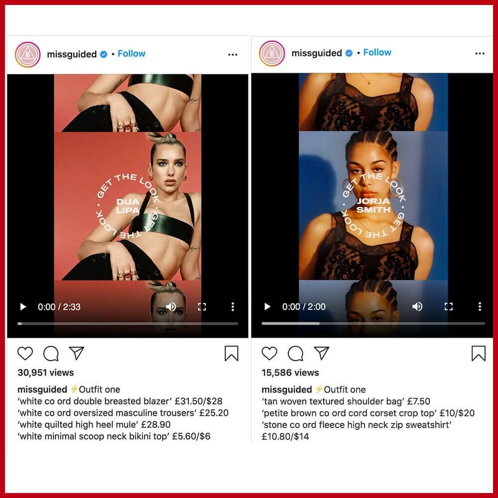 Fast Fashion Miss Guided Copying Dua Lipa and Jorja Smith