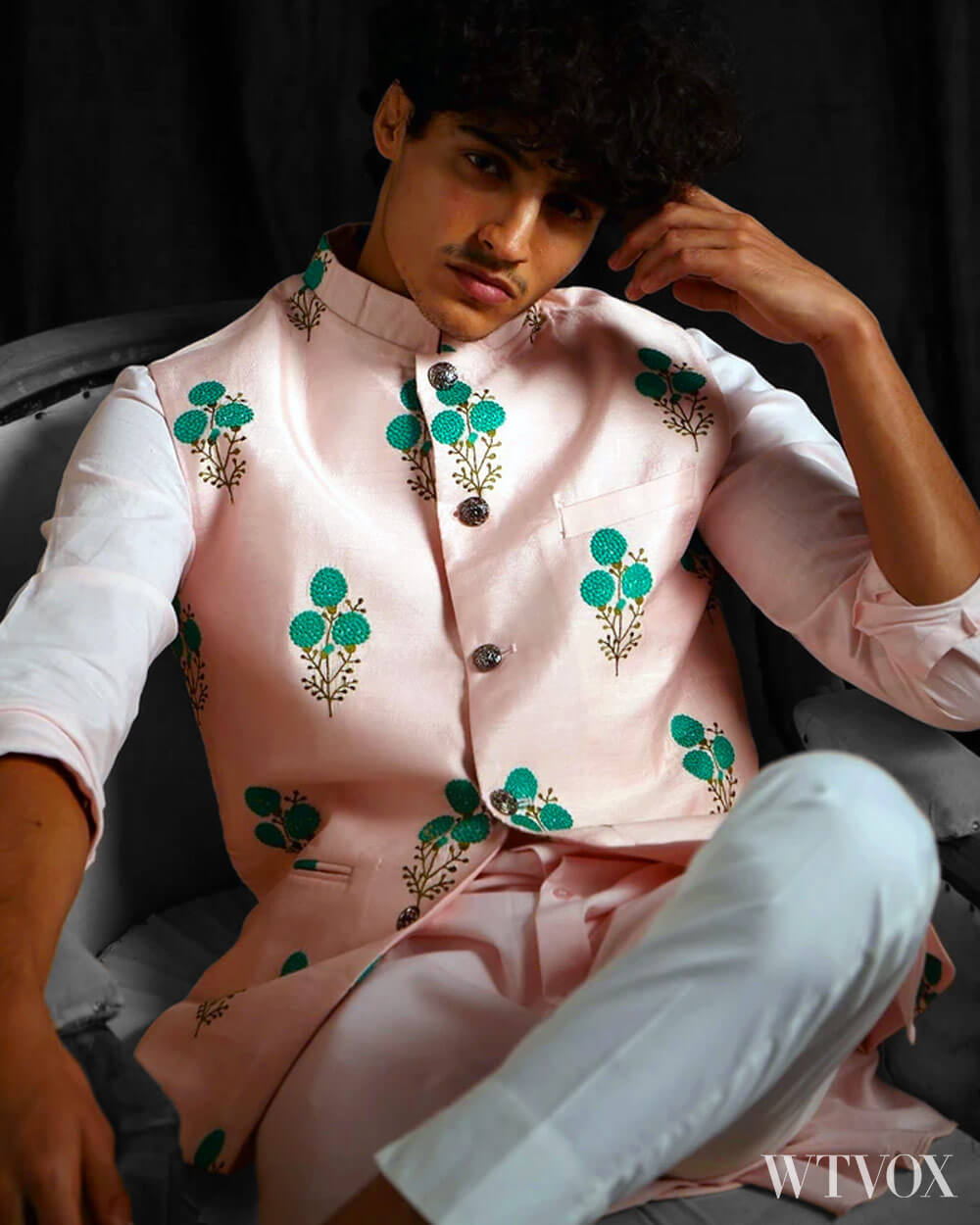 Indian men fashion embroidery pattern