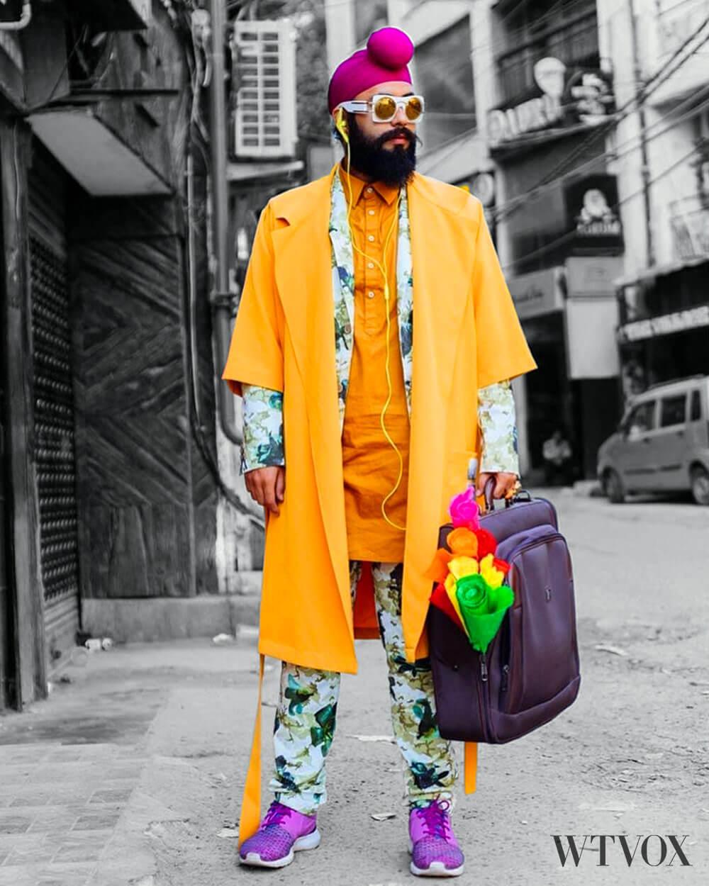Indian fashion men bold colours
