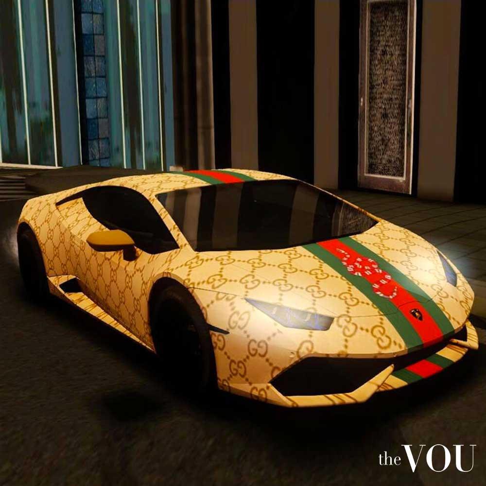 brand recognition - Gucci car - lamborghini